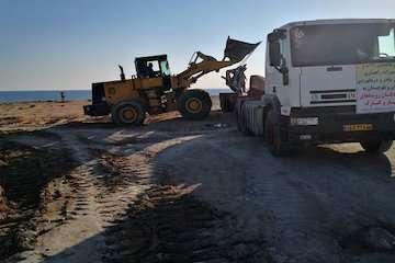 ارسال بخش دوم ماشین آلات راهسازی بندر چابهار به مناطق سیل زده/ اعزام تیم درمانی و برپایی بیمارستان صحرایی