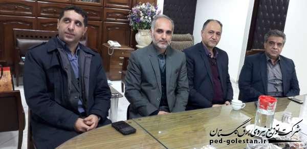 دیدار مدیرعامل شرکت توزیع نیروی برق گلستان با معاون منابع...