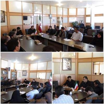 تشکیل جلسه ی ستاد برگزاری مراسم بزرگداشت سردار سپهبد حاج قاسم سلیمانی و همرزمانش در شهر علامه مجلسی(ره)با حضور مسئولین شهر