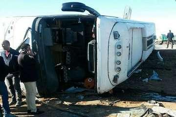 سرعت غیرمجاز، علت اصلی واژگونی اتوبوس در محور باغین – سیرجان