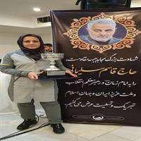 کسب مقام قهرمانی توسط بانوی همکار آبفا خوزستان درمسابقات خواهران