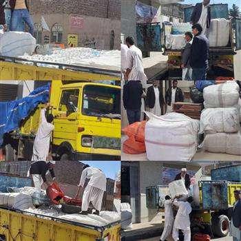 توزیع کمکهای اعضای سازمان های استان ها به سیل زدگان توسط سازمان نظام مهندسی ساختمان استان سیستان و بلوچستان