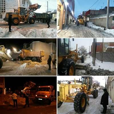 اقدامات شهرداری فریمان پس از بارش سنگین برف در روزهای 21 و 22 دی ماه