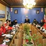 نشست جمعی از آتش نشانان شهرداری بندرانزلی با اعضای شورای شهر