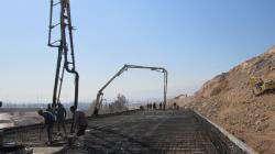 اجرای آخرین مرحله بتن ریزی عرشه پل دوم شهید رودکی