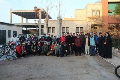 حضور دوچرخه سواران دوستدار محیط زیست در اداره کل حفاظت محیط زیست استان قزوین
