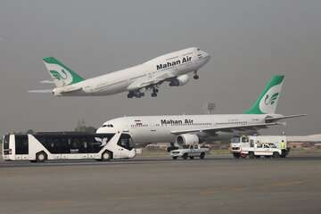 تغییر مسیر پرواز کیش- کرمانشاه به فرودگاه مهرآباد