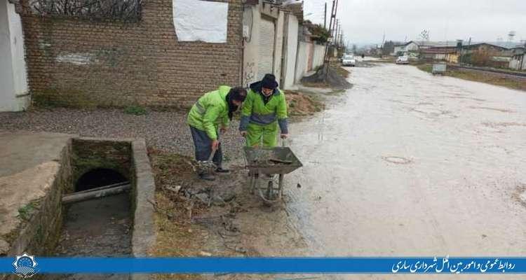 لایروبی و پاکسازی کانالها در محله هولا