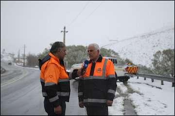 بارش برف و باران در ۴۶۹ جاده کشور/برفروبی ۵۰هزار کیلومتر جاده در شبانهروز گذشته
