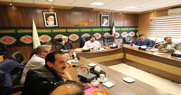 جلسه کمیسیون بهداشت ، محیط زیست و خدمات شهری شورای اسلامی شهر رشت
