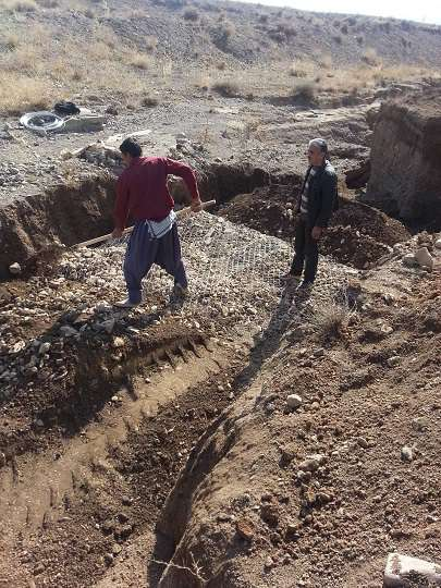 اجراي عمليات مقاوم سازي خط انتقال آب شهر نوبران