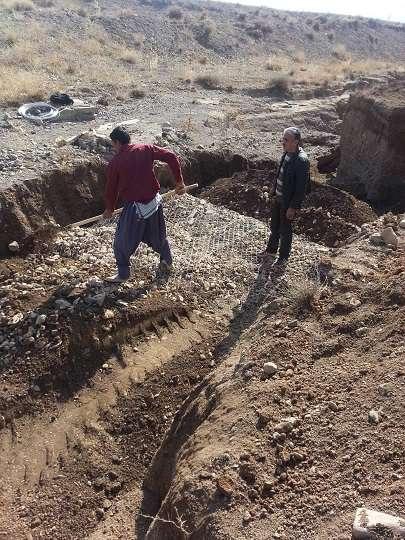 اجراي عمليات مقاوم سازي خط انتقال آب شهر غرق آباد