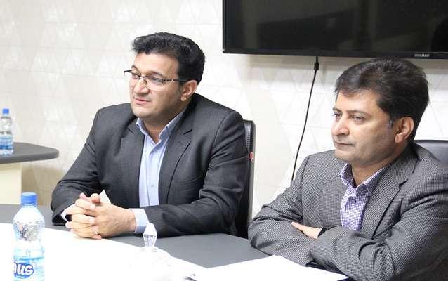 نشست مشترك شركت توزيع نيروي برق جنوب استان كرمان و پارك علم و فناوري در راستاي همكاري هاي دو جانبه