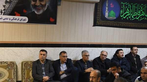 برگزاری مراسم شهادت حضرت فاطمه زهرا (س) در شرکت آب و فاضلاب استان آذربایجان غربی