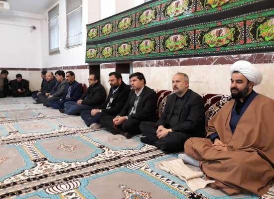 مراسم سوگواری پرسنل شهرداری به مناسبت ایام فاطمیه در محل نمازخانه شهرداری بناب برگزار شد+ تصاویر