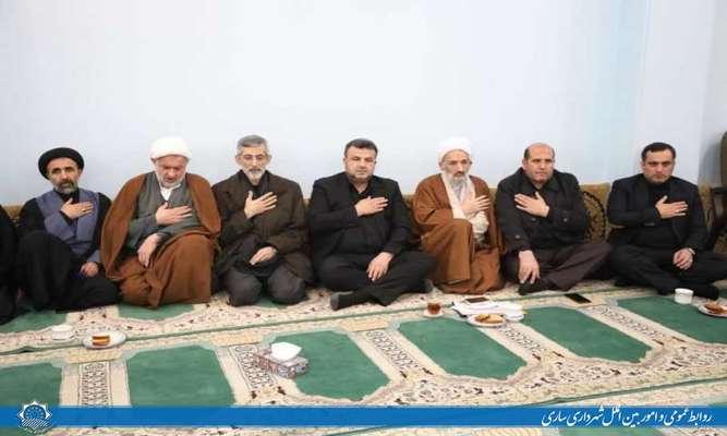 حضور شهردار ساری در  مراسم سوگواری حضرت زهرا(س) در دفتر  حضرت آیت الله محمدی لائینی نماینده معزز ولی فقیه در استان