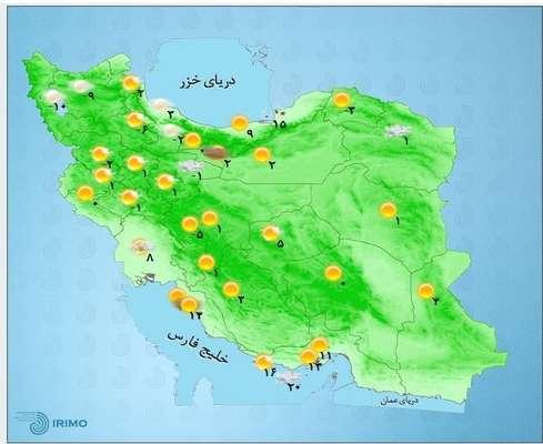 هواشناسی ایران ۹۸/۱۱/۱۰| برف ۳ روزه ۲۰ استان را فرا میگیرد