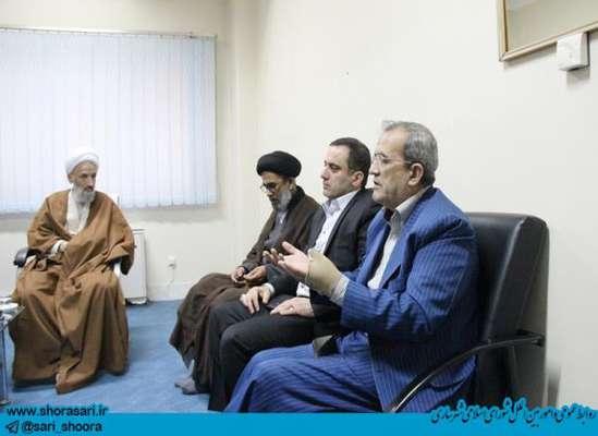 حضور رئیس شورای اسلامی شهر و شهردار ساری در جلسه شورای سیاستگذاری مهدویت استان