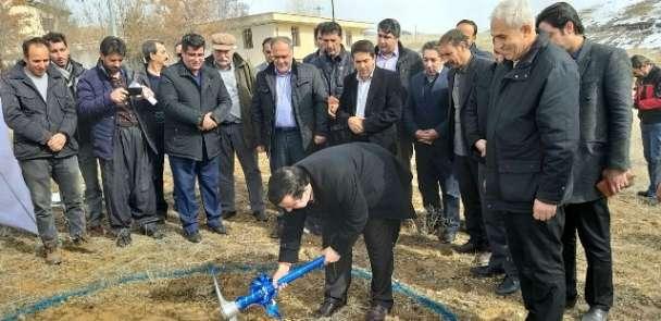 آغاز عملیات اجرایی شبکه آبیاری و زهکشی سد ساروق در شهرستان...