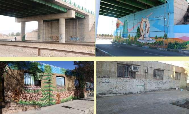 مهندس عبدالله زاده از رنگ آمیزی و زیبا سازی دو دیوار سطح شهر خبر داد .