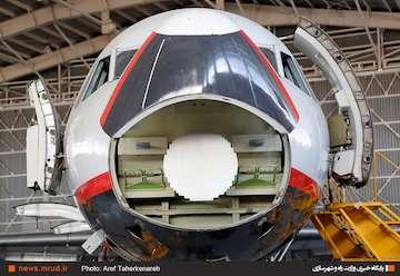 بهره برداری از آشیانه هواپیماهای پهن پیکر ایران ایر