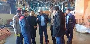 بازدید مهندس شیخی مدیر عامل تولید شازند از اورهال واحد 2
