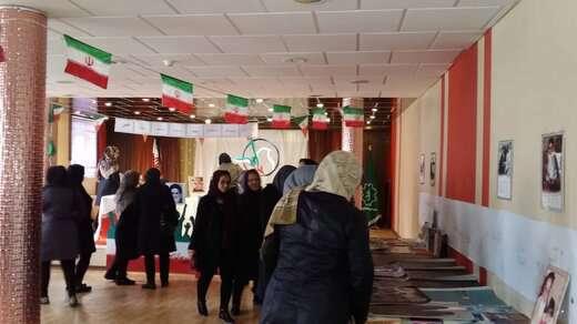 برپایی نمایشگاه کتاب با عنوان روزهای انقلاب در پارک بانوان رضوان