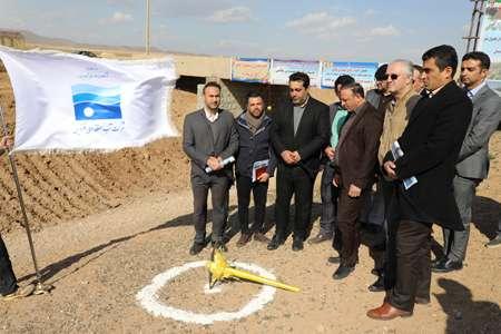 کلنگ زنی پروژه اجرای بتن پوشش کانال خاکی 9/5 کیلومتری شهرستان...