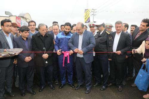بهره برداری از پروژه بهسازی جاده حسن آباد در شهرک صنعتی توس