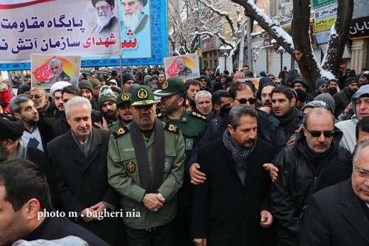 مراسم پر شکوه راه پیمایی یوم الله 22 بهمن
