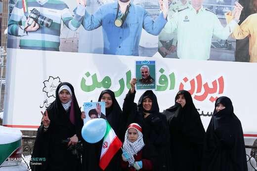 حضور پرشور مردم تبریز در راهپیمایی ۲۲بهمن