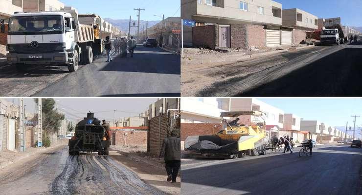عملیات آسفالت ریزی كوچه های شهرك مسكن مهر آغاز شد