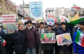 حضور پرشور کارکنان آبفار خراسان رضوی در راهپیمایی 22 بهمن ماه