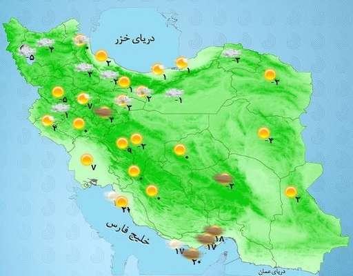 هواشناسی ایران ۹۸/۱۱/۲۷|آغاز بارش برف در ۱۹ استان/ اخطاریه برف ۴۵ سانتیمتری در برخی استانها