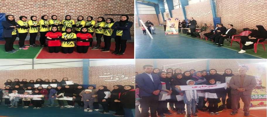 بانوان والیبالست شهرداری زرند با اقتدار قهرمان مسابقات والیبال یادواره سردار شهید حاج قاسم سلیمانی شدند.