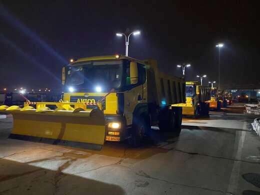 آماده باش کامل تجهیزات زمستانی و برف روبی همزمان با اعلام ورود سامانه بارشی به استان