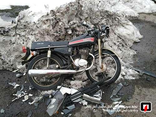 حادثه تصادف در جاده تهران یک مصدوم بر جای گذاشت/آتش نشانی رشت