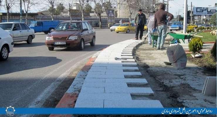 پیاده رو سازی در مناطق سه گانه شهری