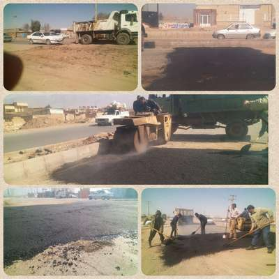 جمع آوری سرعتگیرهای ورودی شهر از سمت رفسنجان