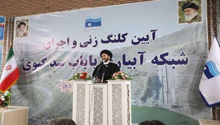 شرکت آب منطقه ای اردبیل با کار جهادی پروژه پایاب سد گیوی را...