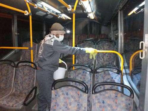 آغاز ضد عفونی کردن ناوگان اتوبوسرانی از شب گذشته
