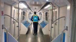 مترو شیراز برای پیشگیری از شیوع کرونا ضدعفونی شد