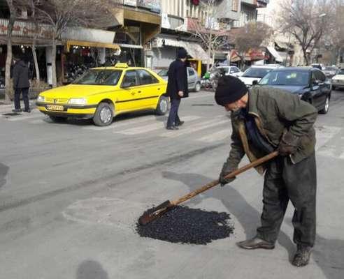 شهرداری با توجه به وضعیت نامساعد آبوهوا ناگزیر از استفاده از آسفالت سرد است