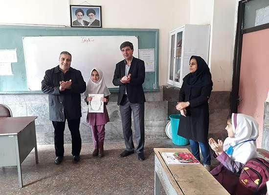 اهدا جوايز برگزيدگان مسابقه نقاشي آب = زندگي در شهرستان ماکو