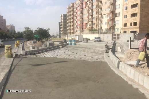 انجام عملیات کف سازی در چندین مسیر حوزه شهرداری منطقه ۲ تبریز