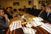 جلسه شورای معاونین با حضور مهندس نژاد صفوی، مدیر کل راه و شهرسازی استان یکشنبه 4 اسفند 98