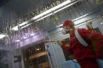 اقدامات احتیاطی برای مقابله با تکثیر کرونا در ایستگاههای ریلی