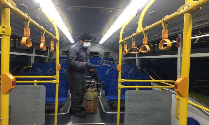 اعمال اقدامات پیشگیرانه در اتوبوسهای درون شهری