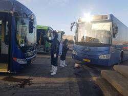 ضدعفونی و گندزدایی اتوبوسهای شهری به صورت مستمر در حال انجام است