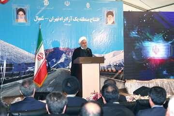 روحانی: تحریمها بر اراده ما در احداث آزادراه تهران - شمال تاثیر نداشت